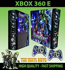 XBOX 360 E AVENGERS ASSEMBLE SCUDI Iron Man Adesivo sottile & 2 Tappetino