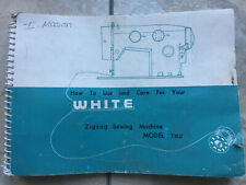 Vintage 1970s White Zigzag Sewing Machine Manual for Model 782