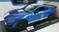 MAISTO 1:18 Scale Diecast Model Car 2020 Ford Mustang Shelby GT500 in Blue