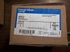 Crouse-Hinds ARE13 30 deg Receptacle Back Box Aluminum, 1/2 Inch Hub New NIB