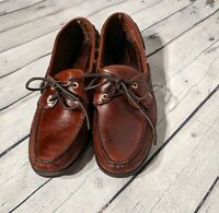 SEBAGO DOCKSIDES Mens 11 Brown Hand Sewn Leather Boat Shoes