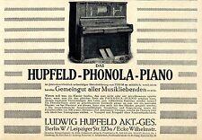 Le HUPFELD-phonola-piano avec apprentissage mélodie direction de 1550 Mark à 1913