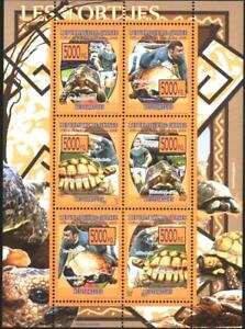 Mint stamps in miniature sheet  Fauna Turtles  2008  from Guinea  avdpz