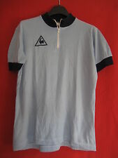Maillot Cycliste Le Coq Sportif Bleu Made in France Vintage BE - 3 / M