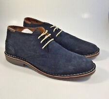 M2718 New Men's Kenneth Cole Reaction Navy Desert Sun Suede Chukka Shoes 11.5 M