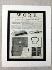 More details for 1890 print workman tool chest box carpentry design victorian joinery carpenter
