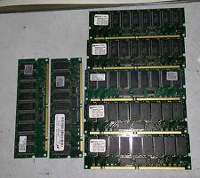 HP SDRAM PC133 REG Memory lot: 5x D8267A 512MB & 2x D8266A 256MB - FREE SHIP!