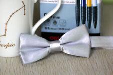 Boys Children Kids Adjustable Solid Bowtie Pre Tied Wedding Party Satin Bow Tie