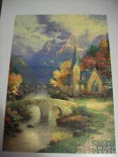 Thomas Kinkade 1000 piece jigsaw - The Mountain Chapel