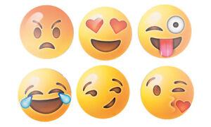 Getränke Untersetzer Smiley Sets 6 Stück Spaß Untersetzer Smiley Gesicht