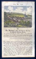 Souliers/THANN-PELERINAGE-Bavière-Gravure sur bois de 1860