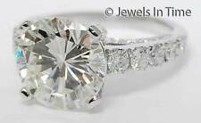 5.21 Carat Round Brilliant Diamond Ring (6) 18K White Gold w/ GIA Certificate