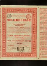 RUSSIA Produits Ceramiques et Refractaires de Wladimirowka 1910 Brussels Belgium
