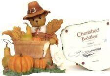 CHERISHED TEDDIES  HERBERT - 2011 Thanksgiving - signed by Glenn Hillman
