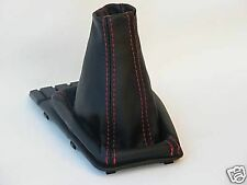 RED DOUBLE STITCH FITS VW POLO MK2 MK3 GT GTI  LEATHER GEAR GAITER