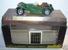 AGE D'OR SOLIDO OLD JAGUAR SS 100 1938 VERT FONCE SIEGES MARRON 1/43 IN BOX a