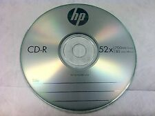 20 Pcs HP Brand 52X Logo Blank CD-R CDR Disc Media 700MB with Paper Sleeves