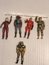 Vintage Eagle Force Metal Action Figures (5)