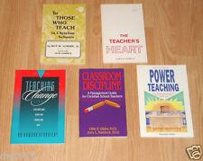 LOT OF 5 BOOKS FOR CHRISTIAN TEACHERS -TEACHING STRATEGIES, CLASSROOM DISCIPLINE