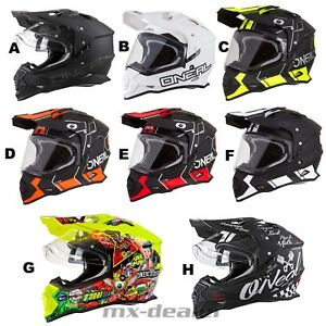 2021 O'Neal Sierra II Helm mit Visier Enduro Supermoto ATV Quad Motocross MX