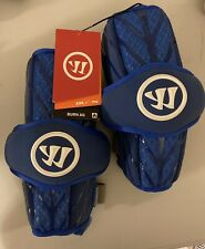 New listing NWT Warrior Lacrosse Burn Arm Guards Blue Adult Sz. M Free Shipping