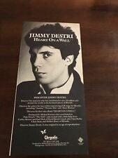 1982 Vintage 5X11 Promo Print Ad For Jimmy Destri Album Heart On A Wall Blondie
