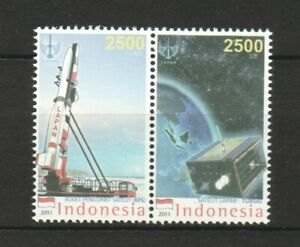 INDONESIA 2011 OUTER SPACE COMP. SET OF 2 STAMPS IN MINT MNH UNUSED CONDITION