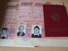 Reisepass Pass Ausweis UdSSR Sowjetunion Passport 1991 СССР паспорт USSR