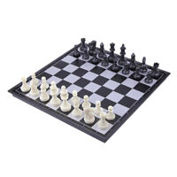 32x32cm Folding Magnetic Travel Chess Set Plastic Board Game for Kids Gifts
