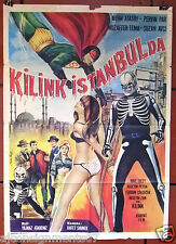 Kilink Istanbul'da {Irfan Atasoy} Turkish Superhero RARE Movie Poster 1960s