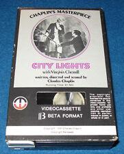 BetaMax Beta *Not Vhs - Charlie Chaplin - City Lights (Video Cassette)