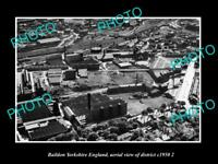 OLD LARGE HISTORIC PHOTO BAILDON YORKSHIRE ENGLAND DISTRICT AERIAL VIEW c1950 3