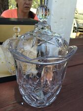 Gorham Lady Anne Crystal Buiscuit Barrel New