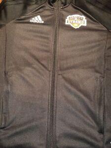 Adidas Houston Dynamo Youth Large Full Zip Jacket Black Long Sleeve