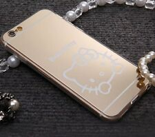 for iPhone 6 / 6S - GOLD Hello Kitty Mirror TPU Rubber Skin Slim Fit Case Cover