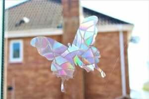 Rainbow 3 Sun catcher Butterfly, Suncatcher Stikers for Window Film Cling Prism