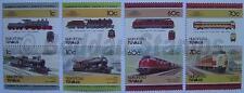1985 NUKUFETAU Set #1 Train Locomotive Railway Stamps (Leaders of the World)