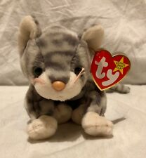 Silver the Tabby Grey Striped Cat Ty Beanie Babies Baby Soft Toy New With  Tags 669594e6d170