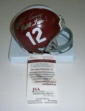 ALABAMA Bill Curry signed mini helmet w/ Roll Tide! AUTO JSA COA Autographed