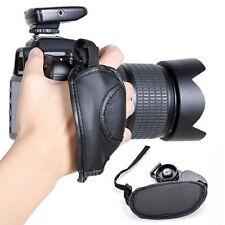 LC_ universel caméra Poignée de main simili cuir ovale BANDE POIGNET POUR SLR /