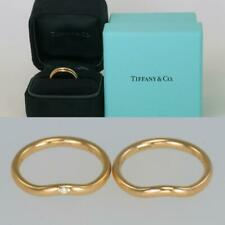 Tiffany & Co Elsa Peretti 18ct Gold Stacking Diamond Engagement & Wedding Rings