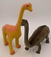 Dinosaur Imperial Lot of 2 - Apatosaurus China Hong Kong - Vintage Yellow Orange