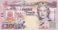 British Gibraltar banknote QE2 20 pounds (2006)  B125 P-33  UNC