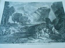 Gravure 1862 - la discorde au jardin des Hespérides