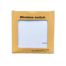 Wireless Lamp Light Wall Single 1 Way Smart Switch Home ON/OFF Remote Control 02