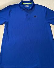 Under Armour Men's Blue Short Sleeve Golf Polo Shirt Size X Large Adult Sz XL