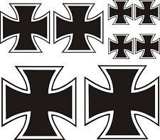 8 x Eisernes Kreuz Aufkleber Sticker IRON CROSS Kreutz  Auto Tuning TOP KULT.