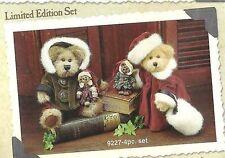 Boyds Plush & Resin Set MATTHEW & BAILEY Limited Edition Set 1998 #9227 NIB