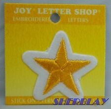 Joy Letter Shop Yellow & White Embroidered ACADEMIC Stars Lot of 9