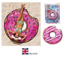 Giant Donut Tamaño Jumbo Toalla de playa baño redondas Tumbona Hoja Toalla Regalo UK